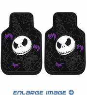 Front Seat Rubber Floor Mats - Car Truck SUV - Nightmare Before Christmas - Jack Skellington - Bones