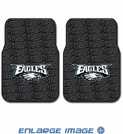 Front Seat Rubber Floor Mats - Car Truck SUV - Philadelphia Eagles