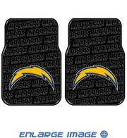 Front Seat Rubber Floor Mats - Car Truck SUV - San Diego Chargers