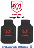 Front Seat Rubber Floor Mats - Car Truck SUV - Trim-to-Fit - Dodge Ram Logo