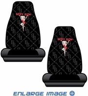Front Universal Bucket Seat Covers - Car Truck SUV - Betty Boop - Chain Link - PAIR