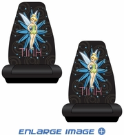 Front Universal Bucket Seat Covers - Car Truck SUV - Disney - Tinker Bell - Pixie - PAIR
