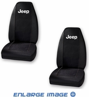 Front Universal Bucket Seat Covers - Car Truck SUV - Jeep - Logo - PAIR