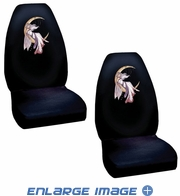 Front Universal Bucket Seat Covers - Car Truck SUV - Jessica Galbreth - Moon Dreaming - PAIR