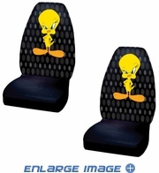 Front Universal Bucket Seat Covers - Car Truck SUV - Warner Bros. - Tweety Bird - Attitude