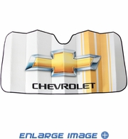 Front Windshield Sunshade - Accordion Style - Car Truck SUV - Chevy Logo Racing