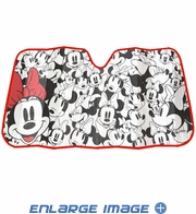 Front Windshield Sunshade - Accordion Style - Car Truck SUV - Minnie Mouse