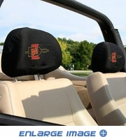 Headrest Covers - Car Truck SUV - NCAA - San Diego State Aztecs - pair