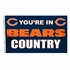 House Flag Banner Outdoor/Indoor - 3 x 5 Country Style - Chicago Bears