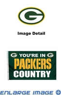 House Flag Banner Outdoor/Indoor - 3 x 5 Country Style - Green Bay Packers