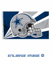 House Flag Banner Outdoor/Indoor - 3 x 5 Helmet Style - Dallas Cowboys