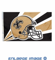 House Flag Banner Outdoor/Indoor - 3 x 5 Helmet Style - New Orleans Saints