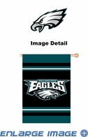 House Flag Banner Outdoor/Indoor - Double Sided - Philadelphia Eagles