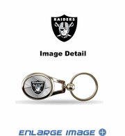 Key Chain - Metal Oval - Oakland Raiders
