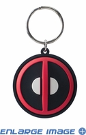 Key Chain - PVC Soft Touch - Car Truck SUV - Marvel Comics - Deadpool - Logo