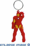 Key Chain - PVC Soft Touch - Car Truck SUV - Marvel Comics - Iron Man