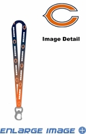 Lanyard with Key Chain Clip and Bottle Opener - Ombre - Chicago Bears