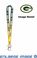 Lanyard with Key Chain Clip and Bottle Opener - Ombre - Green Bay Packers