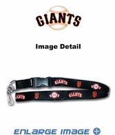 Lanyard with Key Chain Clip and Velcro closure - Black - San Francisco Giants