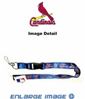 Lanyard with Key Chain Clip and Velcro closure - Blue - St. Louis Cardinals