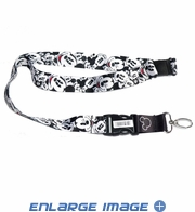 Lanyard with Key Chain Clip - Disney - Mickey Mouse - Expressions Faces