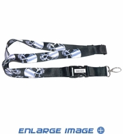Lanyard with Key Chain Clip - Skull - Heads