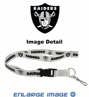 Lanyard with Key Chain Clip and Velcro closure - Oakland Raiders
