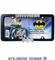License Plate Frame - Black Metal - Car Truck SUV - DC Comics - Batman