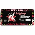 License Plate Frame - Car Truck SUV - Plastic - Betty Boop - Rock Star Pose
