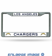 License Plate Frame - Car Truck SUV - Chrome Metal - NFL - Los Angeles Chargers