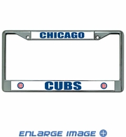 License Plate Frame Chrome Metal Car Truck SUV - Chicago Cubs