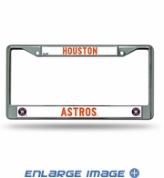 License Plate Frame Chrome Metal Car Truck SUV - Houston Astros