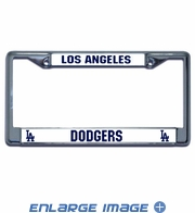 License Plate Frame Chrome Metal Car Truck SUV - Los Angeles Dodgers