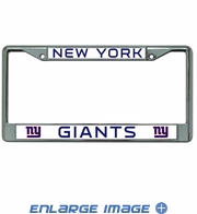 License Plate Frame Chrome Metal Car Truck SUV - New York Giants
