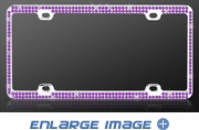 License Plate Frame - Crystal Metal - Car Truck SUV - Double Row - Purple