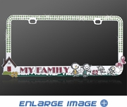 License Plate Frame - Crystal Metal - Car Truck SUV - Metal Loving Family - Green