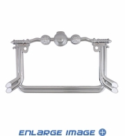License Plate Frame - Metal - Motorcycle - Handle Bar and Exhaust Pipe
