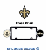 License Plate Frame Plastic - Badge - Car Truck SUV - New Orleans Saints