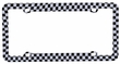 License Plate Frame - Plastic - Car Truck SUV - Racing Flag