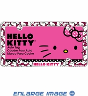 License Plate Frame - Car - Plastic - Sanrio - Hello Kitty - Heads