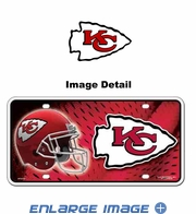License Plate Tag Metal - Car Truck SUV - Kansas City Chiefs