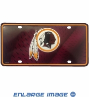 License Plate Tag - Metal - Car Truck SUV - NFL - Washington Redskins