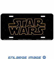 License Plate Tag - Metal - Car Truck SUV - Star Wars - Text