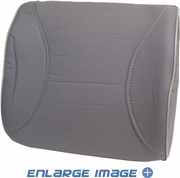 Lumbar Back Cushion - Car Truck SUV - Leatherette - Grey