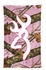 Outdoor Picnic Beach Towel - Browning - White and Pink Outline Buckmark New Pink Camo Background