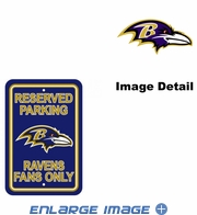 Parking Sign - Reserved Parking - Baltimore Ravens -