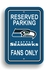 Parking Sign - Reserved Parking - Seattle Seahawks -