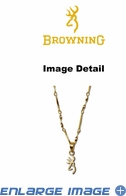 Pendant Necklace - 24-Karat Gold - Browning