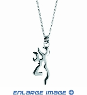 Pendant Necklace Jewelry - Sterling Silver - Browning Arms Company - Buckmark Logo