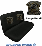 Rear Bench Seat Cover - Crystal Studded Rhinestone Bling - Bulldog